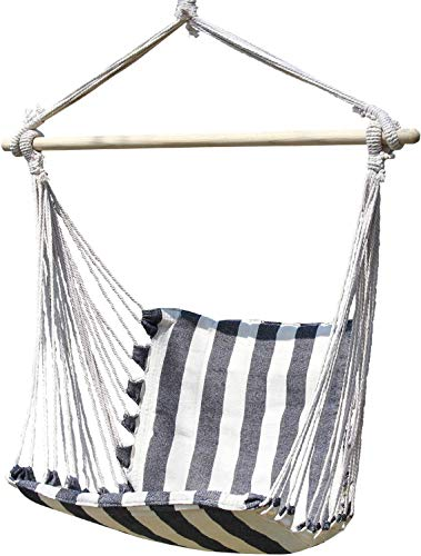 Outdoor home pillow hanging chair Rope hammock chair swing seat suitable for any indoor or outdoor space- Hanging Rope Swing Cotton Weave for Superior Comfort & Durability - Brazilian Hanging Chair fo