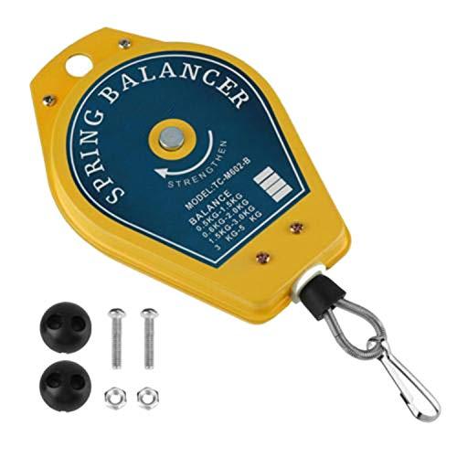 OVBBESS Equilibrador retráctil ergonómico amarillo de la primavera del tenedor 0.5-1.5Kg de la herramienta para el equipo hidráulico