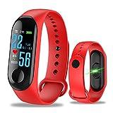WANGLAI 1 Pc Rastreador de Ejercicios, rastreador de Actividad con Monitor de presión Arterial de Ritmo cardíaco, Pulsera Inteligente con Contador de calorías de Seguimiento del sueño (Red)