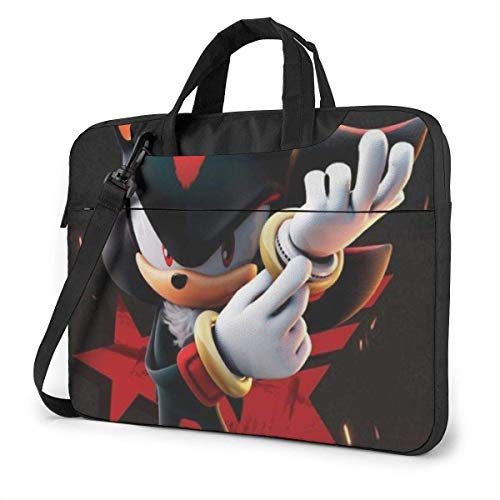 13 Inch Laptop Bag So-nic The Hedgehog Laptop Briefcase Shoulder Messenger Bag Case Sleeve LAP-4724