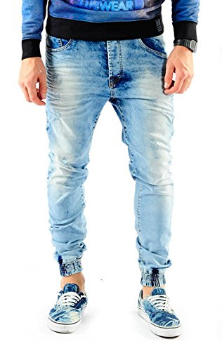 VSCT Noah Cuffed Jeans lightblue moonwashed