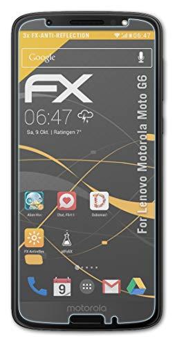 atFolix Panzerfolie kompatibel mit Lenovo Motorola Moto G6 Schutzfolie, entspiegelnde & stoßdämpfende FX Folie (3X)