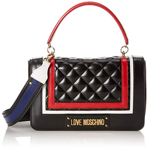 Love Moschino Quilted Pu Mix Multi, femme, Noir (Nero), 15x10x15 cm (W x H L)