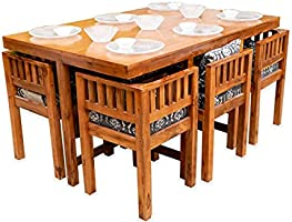 THE WOODEN STORE Perfect Homes Solid Wood 6 Seater Dining Set.