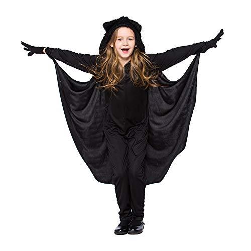 Costour Disfraces Halloween Carnaval Disfraces para Niños Monos con Capucha Bat Bruja Princesa