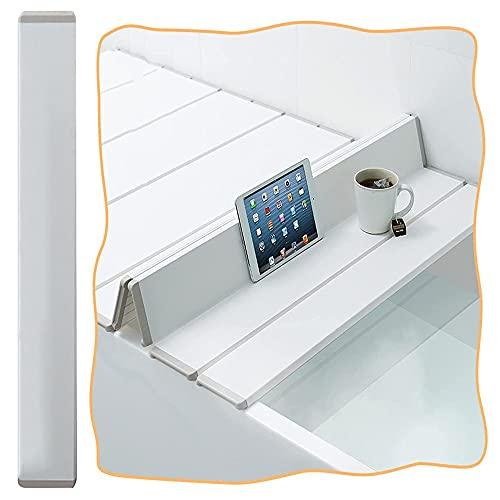 CYGG Anti Staub Badewannenabdeckung Extensible Badewannenablage, Badewannenisolierungsabdeckung Für Alle Badewannen, Weißer PVC Badewannenbretter (Size : 140x70cm-55x27in)