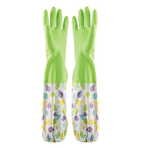 Guantes de goma lavavajillas algodón dentro Rubberized Washing Gloves