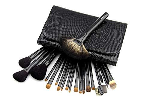 Maquilleur professionnel Set Brush 22 Maquillage Brush Set Outils de maquillage Brosse à poil de poils d'animaux Brosse à paupières, Noir