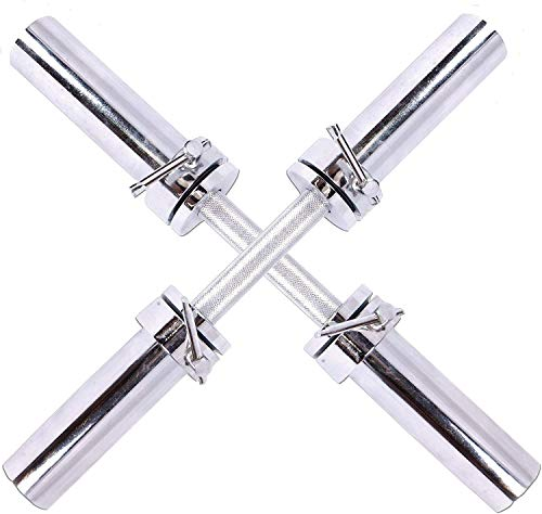 """Mular Olympic Bar 2"""" Barbell Solid Dumbbell Weight Lifting Bars with Rotating Sleeves"""