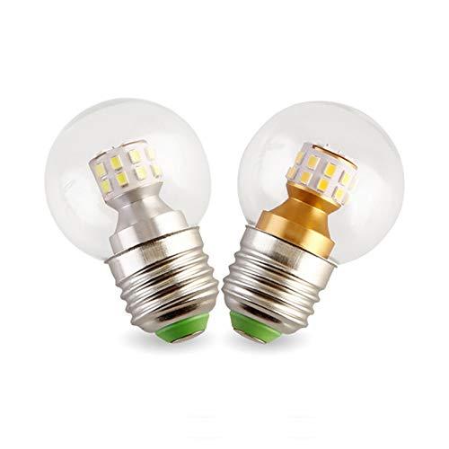 G45 LED Bulb Light, Edison Bulbs E27 Dimmable, 7W (Equivalent To 60W), E27 Edison Screw Base, SMD 2835 Led Light G45 Globe Bulbs Home Deco,Warm light,7W/6PCS