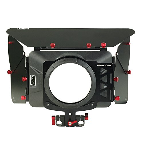 FILMCITY Power (MB-99) Camera Matte Box for 15mm Rail Rod Support Follow Focus Rig System for DSLR Video Camera - Canon Nikon Sony