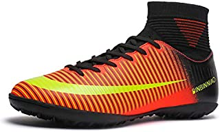 CR Indoor Cleats Boys Size 5.5 Ankle Boots Women Turf Outdoor Soccer Shoes Men Size 11 Black (10...