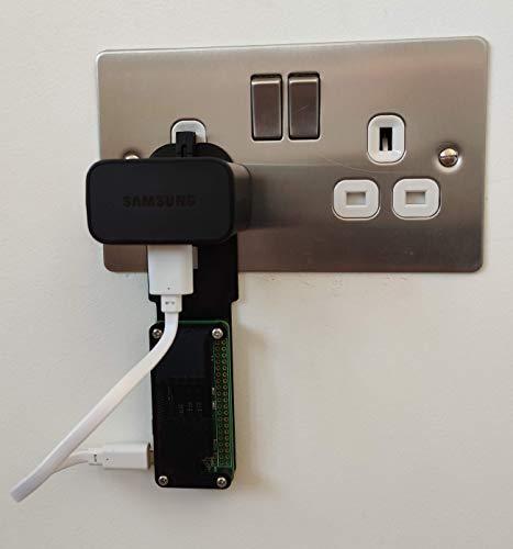 Raspberry Pi Zero W UK Plug Case Enclosure 3D Printed