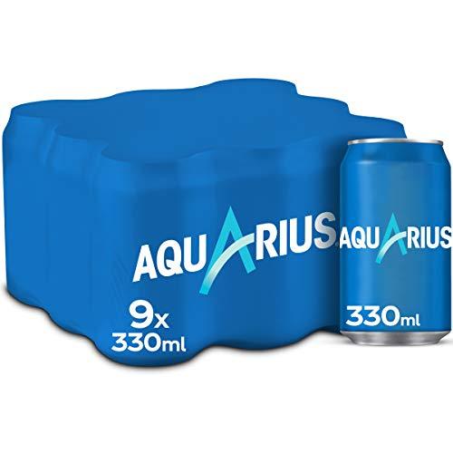 Aquarius Limón Bebida Funcional con Sales Minerales, Baja en Calorías, Pack 9 x 330ml