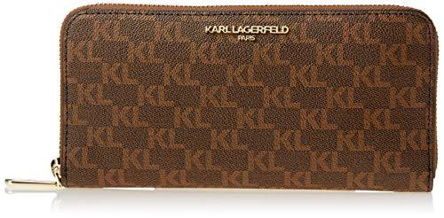 Karl Lagerfeld Paris Damen SLG Continental Wallet Geldbörse, Braun/Khaki, Einheitsgröße