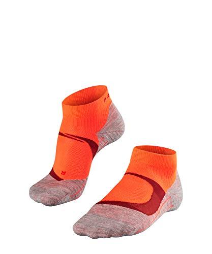 FALKE Damen, Laufsocken RU4 Cool Short Funktionsfaser, 1 er Pack, Rot (Neon Red 8584), Größe: 39-40