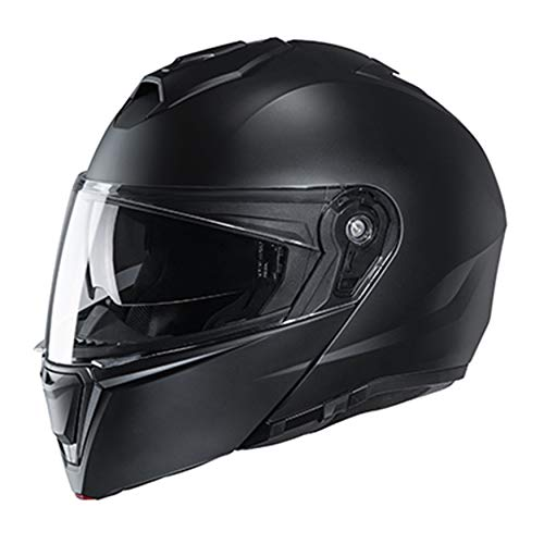 HJC Unisex-Adult Flip-Up i90 Modular Helmet (Flat Black, 5X)