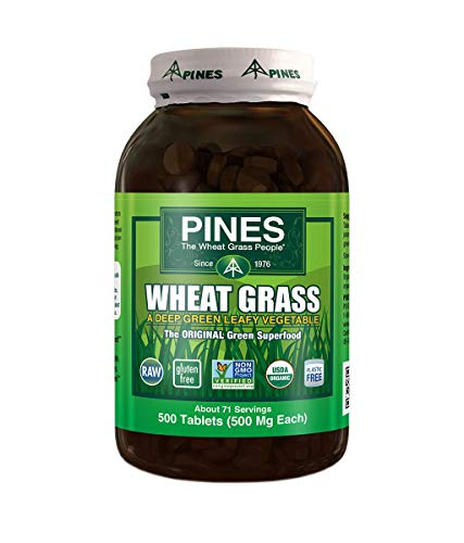 Pines Organic Wheat Grass, 500 Count Tablets