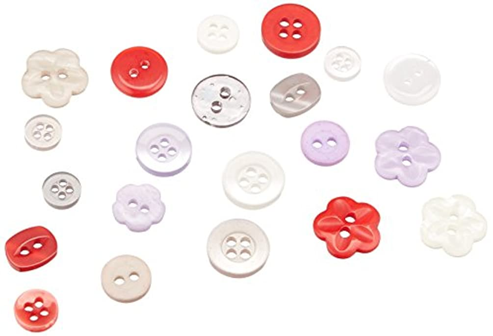 Buttons Galore Assorted Haberdashery Tins Vintage Buttons, Multicolor