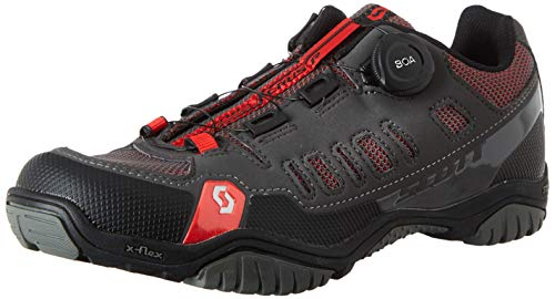 Scott Herren Sport Crus-R Boa Mountainbike Schuhe, Grau (Anthracite/Red 001), 44 EU