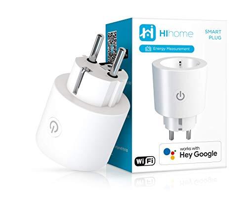Hihome Gen2 - Enchufe WiFi inteligente (16 A, con medición de energía, funciona con Google Home y Alexa)