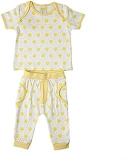 Joynme Boys Clothing Baby Boy Ringo 100% Cotton Set Color- WhiteYellow 12-18 Months