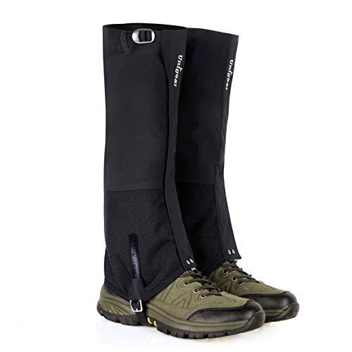 Unigear Outdoor Gamaschen, 100% wasserdichte Gamaschen, Verschleißfeste Beinschutz Gaiter für Outdoor-Hosen zum Wandern, Klettern, Trekking, Schneewandern und Jagd Unisex 1 Paar