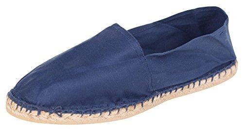 Sommerlatschen Espadrilles, klassisch, dunkelblau, Unisex, SL1094, Größe 46