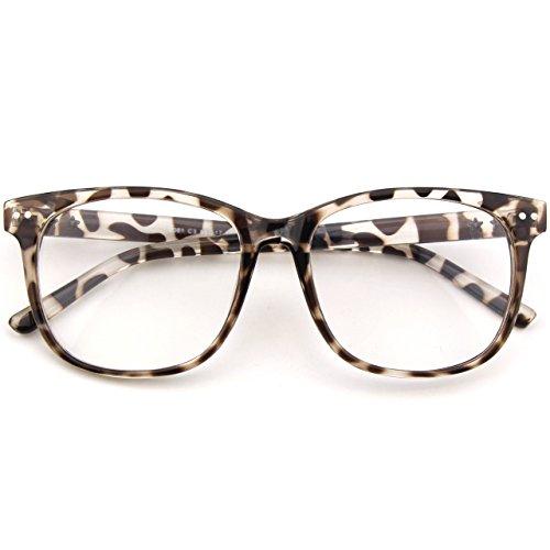 CGID CN81 Retro Anteojos Lente Claro Gafas Para Mujer y Hombre,Multicolor B