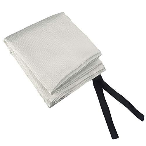 Couverture anti-feu en fibre de verre – Couverture de soudure ignifuge pour survie en cas d'urgence – Tapis de protection ignifuge à souder free size White 1.8 X 1.2m