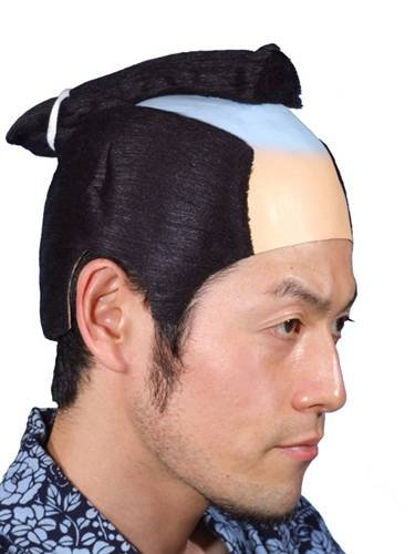 Deluxe Japanese Samurai Hair Adult Wig