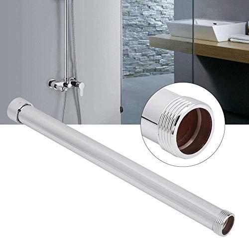 Acogedor Duschverlängerungsrohr, Duschrohr, gerades Rohr zur Verlängerung der Stange, vollkupferfarben, pflegeleicht, langlebig, 2,5 cm Drahtdurchmesser, geeignet für Sechs-Punkt-Gewinde