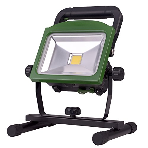 BONASHI LED Rechargeable Work Light with Detachable Flashlight, 20W Cordless Battery Operated Flood Lights, 2 in 1 Multifunctional Portable Worklight with Stand, Green