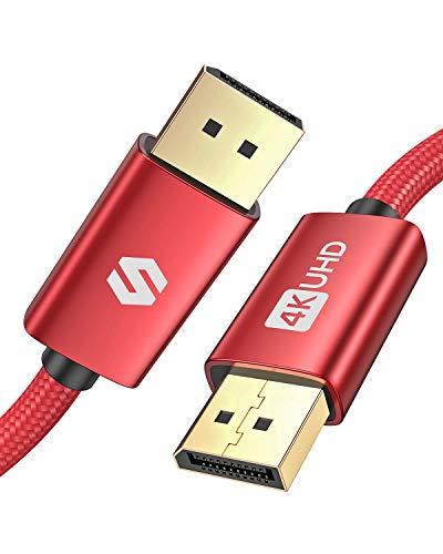 Silkland DisplayPort Kabel 2m, Unterstützung 4K@60 Hz, 2K@144 Hz, 2K@165 Hz, 1080@240Hz, 3D, DP auf DP Kabel für 144Hz-Gaming-Monitor, TV, PC, Grafikkarte