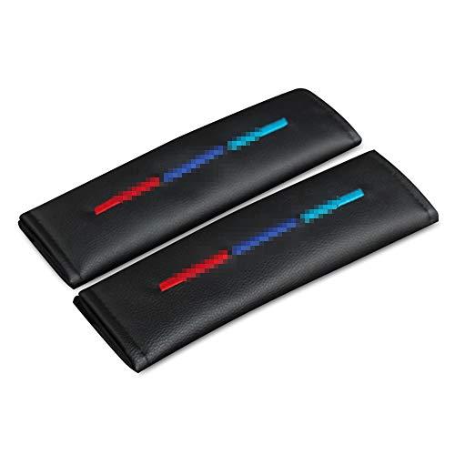 AIPOLE Coche Almohadillas CinturóN De Seguridad para BMW M, Coche Seat Belt Padding Shoulder Protectora Pads, CarbóN Fibra, Protectores De Coche Hombro Coche Estilo Accesorios, 2 Piezas