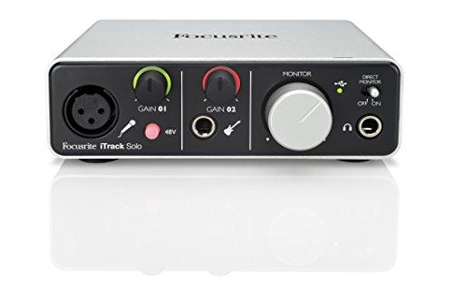 Focusrite iTrack Solo - Interfaccia audio, compatibile attacco Lightning