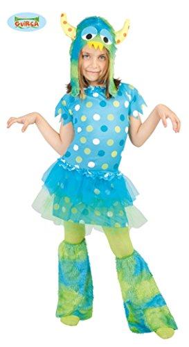 Monster - Kostüm für Mädchen Gr. 110 - 146, Größe:128/134