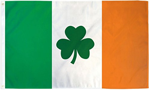 Home and Holiday Flags 3x5 Ireland Flag Irish Shamrock Banner Clover Pennant St Patricks Day Celtic