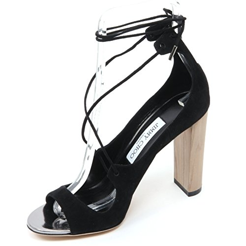 Jimmy Choo B7032 Sandalo Donna Vernie 100 Scarpa Nero Shoe Sandal Woman [37]