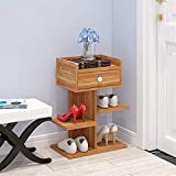 Casa Rack de Zapatos Rack de Zapatos de Tres Capas Simple Home Save Space Family Shoe Cabinete Dormitorio Puerta Pequeño Zapato Rack 24x40x47.5cm XMJ