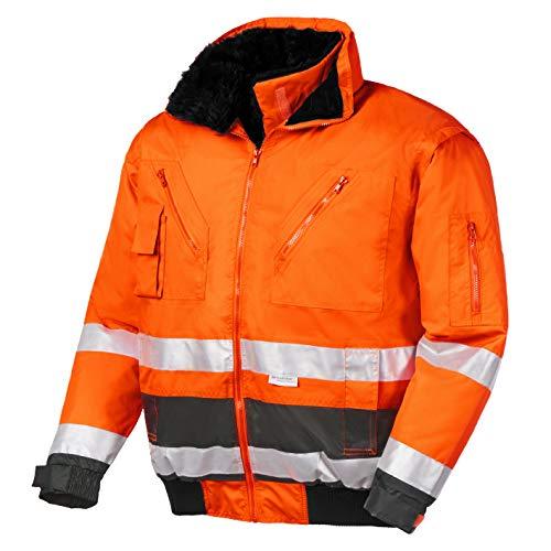 teXXor 4107 Warnschutz-Pilotenjacke Vancouver wasserdichte, winddichte Arbeitsjacke orange L, M