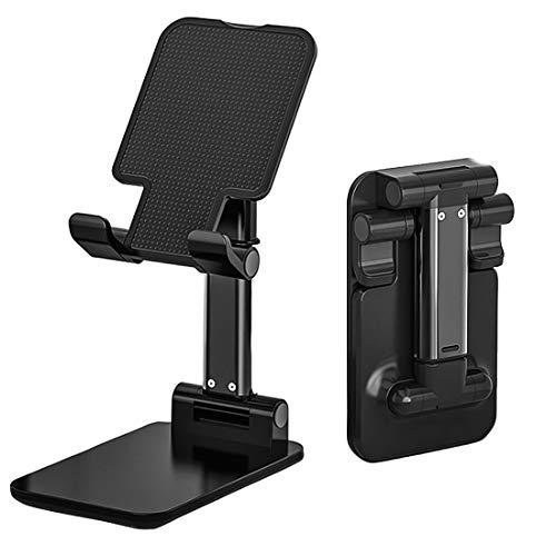 Selturone Soporte ajustable para teléfono celular compatible con iPhone 11/11 Pro/XS Max/XR/X, Samsung Galaxy S10/S9 y tabletas, soporte plegable para teléfono móvil portátil