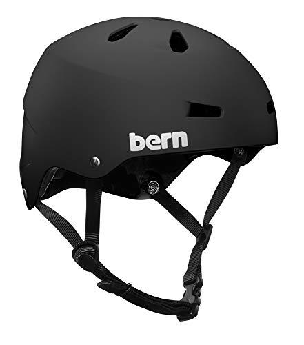Bern Macon - Casco da ciclismo e skate, Unisex, Nero(Mattsand (Ohne Mips)), L (57 - 59cm)
