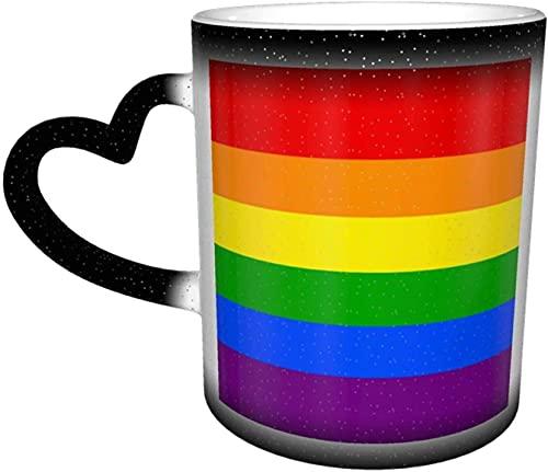 MENYUAN Tazas de café sensibles al calor color cambiante taza en el cielo taza de cerámica regalos personalizados para los amantes de la familia amigos