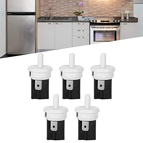 Interruptor de puerta de refrigerador, 5 uds, Práctico interruptor de luz de puerta de refrigerador de plástico para refrigerador para control de iluminación de gabinete
