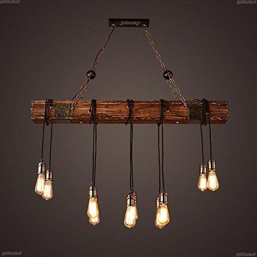 BJVB Drei Vintage Industrie Holz Anhänger Lampe Schlafzimmer Wohnzimmer Kronleuchter