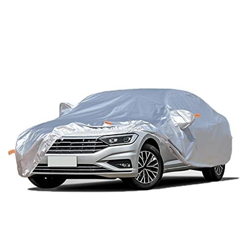 Cubierta de coche Oxford Paño UV Protección contra el viento a prueba de viento Resistente al polvo resistente al aire libre Universal universal Cubiertas de automóviles completos para sedán hasta 208