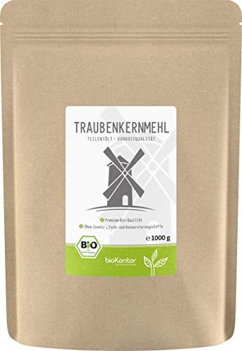 Bio Traubenkernmehl (1000g / 1kg) in Rokostqualität von bioKontor | teilentölt | 100% BIO - ohne...