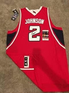 Joe Johnson Autographed Signed Official Swingman Jersey (Size XL) Hawks Rockets JSA COA