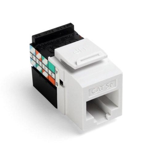 Leviton 5G108-RW5 GigaMax 5E QuickPort Connector, Cat 5E, White